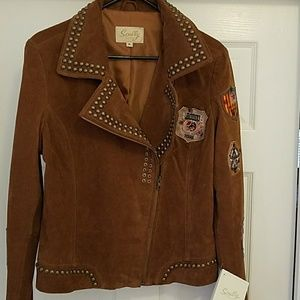 new with tags cinnamon XL leather women's coat
